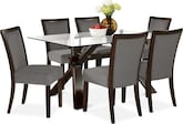 Dining Room Furniture-Vero Karmon Gray 7 Pc. Dinette