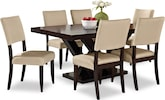 Dining Room Furniture-Reese Keefe Beige 7 Pc. Dining Room