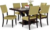Dining Room Furniture-Reese Keefe Kiwi 7 Pc. Dining Room