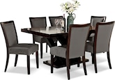 Dining Room Furniture-Reese Karmon Gray 7 Pc. Dining Room