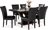 Dining Room Furniture-Reese Vero Black 7 Pc. Dining Room