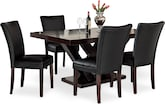 Dining Room Furniture-Reese Vero Black 5 Pc. Dining Room