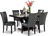 Dining Room Furniture-Reese Vero Gray 7 Pc. Dinette