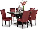 Dining Room Furniture-Reese Vero Red 7 Pc. Dinette