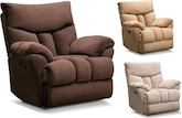 Living Room Furniture-The Crosby Collection-Crosby Swivel Glider Recliner