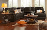 Living Room Furniture-The Durango Saddle Collection-Durango Saddle 5 Pc. Reclining Sectional