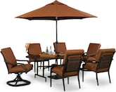 Outdoor Furniture-Gilmore 9 Pc. Patio Dinette