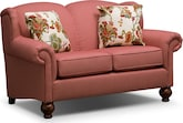 Living Room Furniture-Caroline Red Loveseat