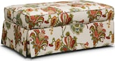 Living Room Furniture-Caroline Storage Ottoman