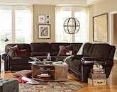 Living Room Furniture-The Ramsey Collection-Ramsey 4 Pc. Power Reclining Sectional