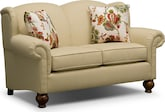 Living Room Furniture-Caroline Khaki Loveseat