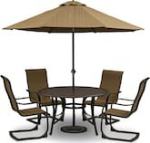 Outdoor Furniture-Larsen 7 Pc. Patio Dinette