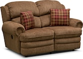 Living Room Furniture-Laconia Reclining Loveseat