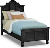 Kids Furniture-Magnolia II Black Twin Bed