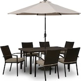 Outdoor Furniture-Wilder 7 Pc. Patio Dinette