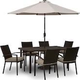Outdoor Furniture-The Wilder Collection-Wilder 7 Pc. Patio Dinette