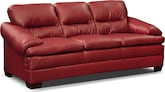 Living Room Furniture-Bremont Red Sofa