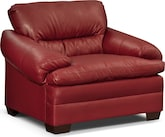 Living Room Furniture-Bremont Red Chair