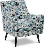 Living Room Furniture-Calamar Teal Accent Chair