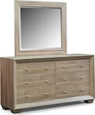 Bedroom Furniture-Highland Birch Dresser & Mirror