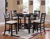 Dining Room Furniture-The Dillon Collection-Dillon 5 Pc. Counter-Height Dining Room