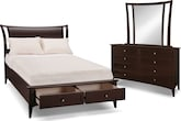 Bedroom Furniture-The Modesto Collection-Modesto Queen Storage Bed