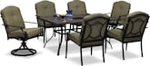 Outdoor Furniture-Carter 7 Pc. Patio Dinette
