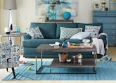 Living Room Furniture-The Calamar Teal Collection-Calamar Teal Sofa