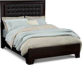 Bedroom Furniture-Highland Merlot Queen Bed