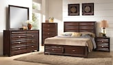 Bedroom Furniture-The Scarborough Collection-Scarborough Queen Storage Bed