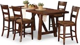 Dining Room Furniture-Owens 5 Pc. Counter-Height Dinette