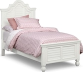 Kids Furniture-Magnolia II White Full Bed