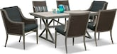 Outdoor Furniture-Tesaro 7 Pc. Patio Dinette