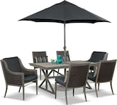 Outdoor Furniture-Tesaro 9 Pc. Patio Dinette