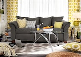 Living Room Furniture-The Perry Graphite Collection-Perry Graphite Sofa