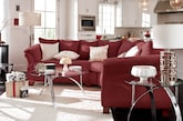 Living Room Furniture-The Perry II Red Collection-Perry II Red 2 Pc. Sectional