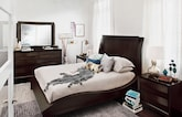 Bedroom Furniture-Atwater Merlot 6 Pc. Queen Bedroom