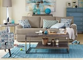 Living Room Furniture-The Calamar Stone Collection-Calamar Stone Sofa