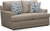Living Room Furniture-Calamar Stone Loveseat