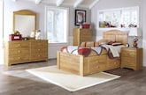 Bedroom Furniture-The Morgan Collection-Morgan Full Storage Bed