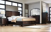 Bedroom Furniture-The Olmstead Collection-Olmstead Queen Storage Bed