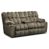 Living Room Furniture-Kipton Reclining Loveseat with Console