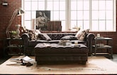 Living Room Furniture-The Marquette Chocolate Collection-Marquette Chocolate Sofa