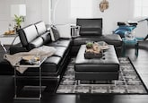 Living Room Furniture-The Milan Black Collection-Milan Black 2 Pc. Sectional