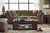 Living Room Furniture-The Brookside Cocoa Collection-Brookside Cocoa Sofa