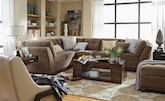 Living Room Furniture-The Brookside II Cocoa Collection-Brookside II Cocoa 2 Pc. Sectional