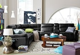 Living Room Furniture-The Antonio Collection-Antonio 4 Pc. Power Reclining Sectional with Music Console