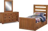 Kids Furniture-Drew 6 Pc. Twin Bedroom (Alternate)