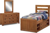 Kids Furniture-Drew 6 Pc. Twin Bedroom (Alternate II)