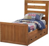 Kids Furniture-Drew Twin Bed w/ 2-Drawer Storage